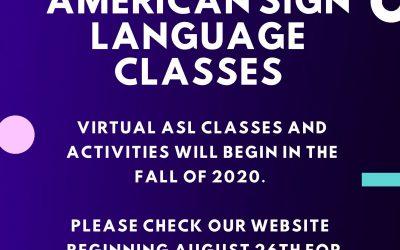 Virtual ASL Classes 2020