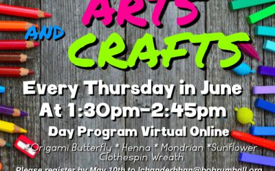 June Arts and Crafts for Day Program