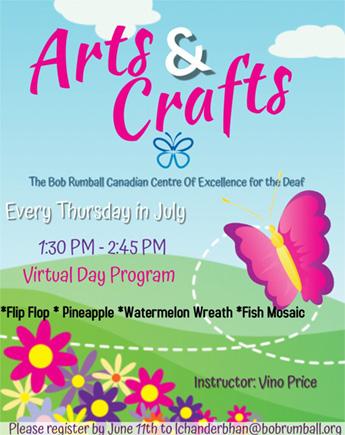 July Arts & Craft (Virtual Online)