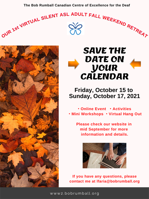 Save the date for Fall Retreat 2021